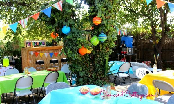 Backyard Luau Birthday Party Decor | Hometalk