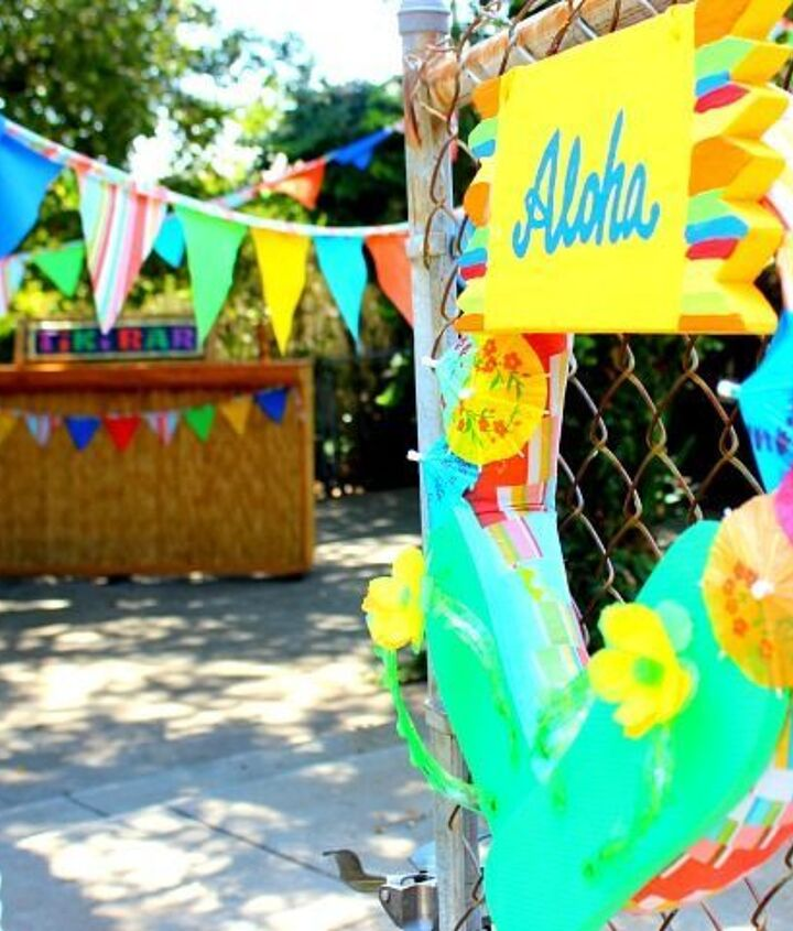 backyard ideas luau birthday decor, crafts