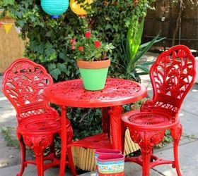 outdoor bistro set spray paint makeover hometalk rh hometalk com