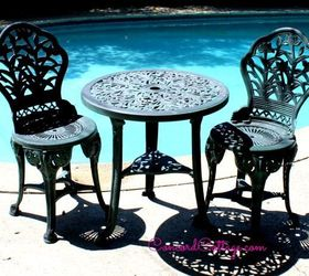 Bon Outdoor Furniture Rustoleum Spray Paint Bistro Set Red, Outdoor Furniture,  Outdoor Living, Paint
