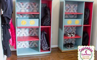 painted furniture cabinet school organization storage, organizing, painted furniture