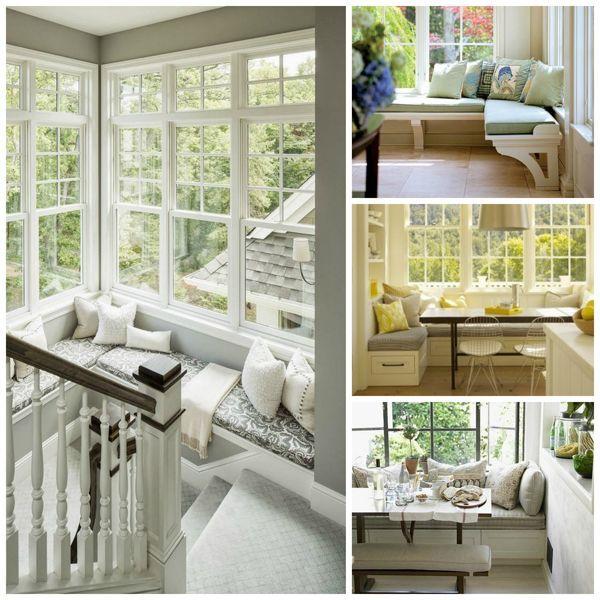 windows seats whimsical, home decor, window treatments