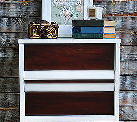 Modern Mid Century Nightstand Side Table Wood White, Home Decor, Painted  Furniture, Repurposing