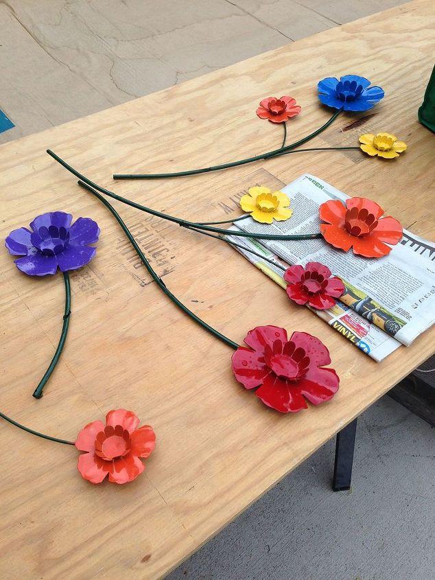 upcycling wall art into garden art, crafts, repurposing upcycling