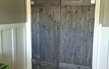 woorkworking barn wood closet doors rustic, bedroom ideas, closet, diy, rustic furniture, woodworking projects