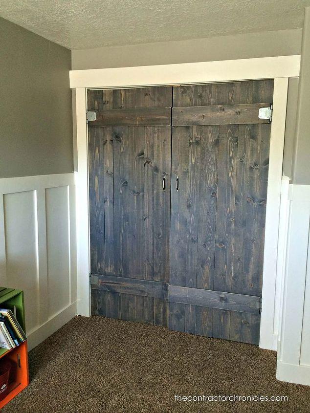 woorkworking barn wood closet doors rustic, bedroom ideas, closet, diy, rustic furniture, woodworking projects