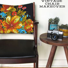 vintage boho chic chair makeover, reupholster