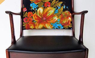 vintage boho chic chair makeover, reupholster
