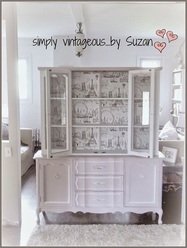 Painted Furniture Hutch Makeover Bedroom Ideas Chalk Paint Repurposing Upcycling
