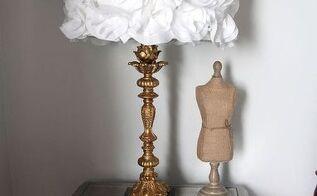 diy lampshade fabric flower, bedroom ideas, diy, home decor, lighting, reupholster
