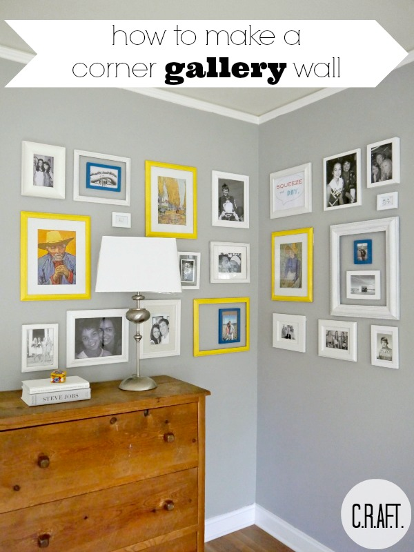 wall art gallery picture frame corner, home decor, wall decor