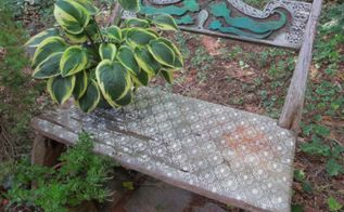 outdoor furniture stencil bench paint, chalk paint, outdoor furniture, painted furniture, repurposing upcycling