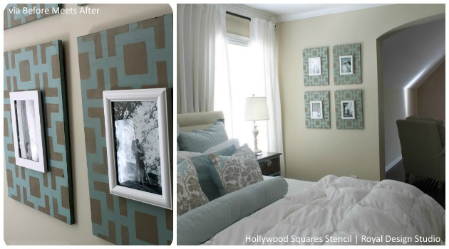 home decor stecils squares modern ideas geometric, flooring, painting, wall decor