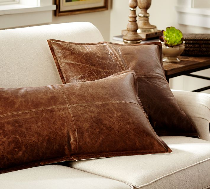 DIY Pillow: Faux Leather Pottery Barn Knock Off | Hometalk