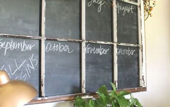 Old Window Frame Repurposed Into Chalkboard Calendar