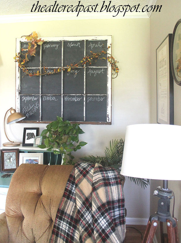 chalkboard paint caledar window pane repurpose, chalkboard paint, crafts, repurposing upcycling