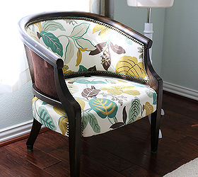 Upholstered Chair Makeover Antique Refinish, Painted Furniture, Reupholster    Antique Upholstered Chair Makeover Hometalk