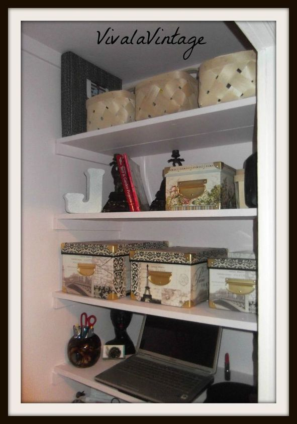 office closet decorating chair, closet, home decor, home office, organizing, shelving ideas, wall decor