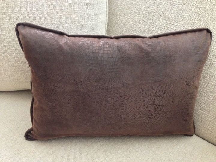 Diy Pillow Faux Leather Pottery Barn Knock Off Hometalk