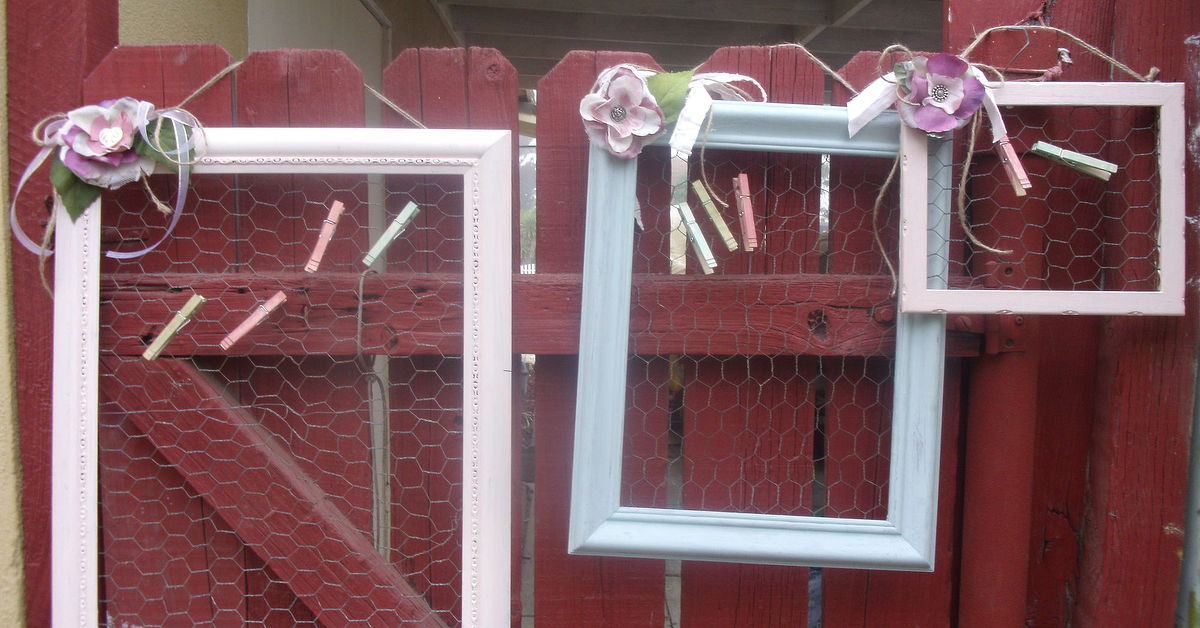 Chalk Painted Old Frames With Chicken Wire   Hometalk
