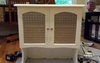 Furniture Flip: Desk Hutch to Medicine Cabinet