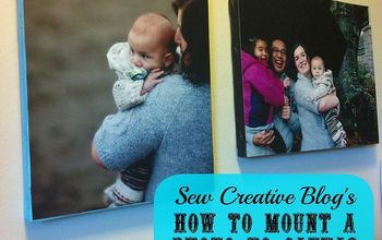 How To Mount A Photo To Canvas For $5.00
