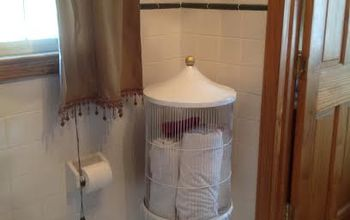 no birds cage, bathroom ideas, repurposing upcycling