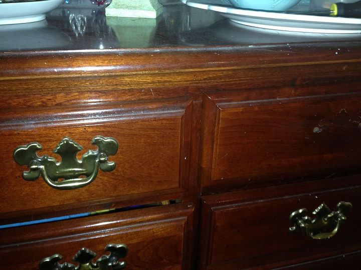 Updating Drawer Pulls Painted Furniture