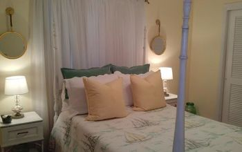 a guest room fit for company, bedroom ideas, home decor, paint colors, painting, reupholster, AFTER