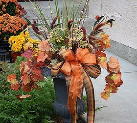Make A Gorgeous Fall Outdoor Floral Arrangement Using Four Easy Steps,  Container Gardening, Flowers
