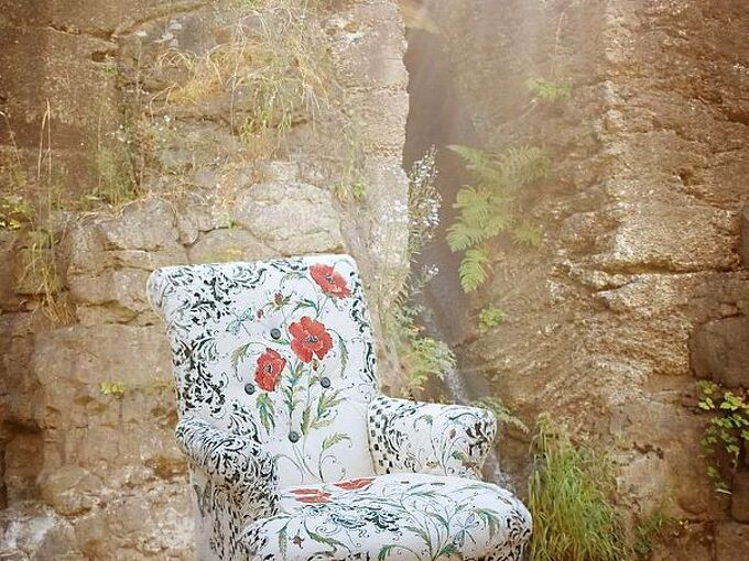 painted furniture chair hand painting floral, painted furniture, reupholster