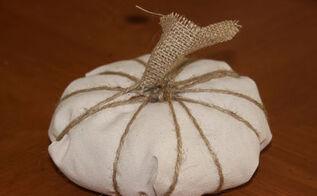 plastic bag and fabric pumpkins, crafts, repurposing upcycling, seasonal holiday decor