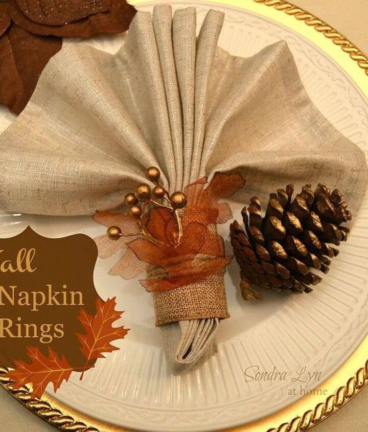 diy fall napkin rings, crafts, seasonal holiday decor
