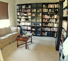 Home Office Design Library Makeover, Home Decor, Living Room Ideas,  Organizing, Shelving