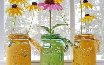 mason jars painted distressed, chalk paint, crafts, home decor, mason jars, repurposing upcycling