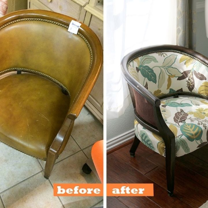 diy how to transform an upholstered chair, how to, painted furniture, reupholster