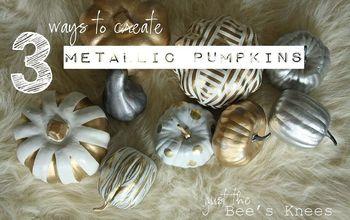 crafts fall pumpkins painting metallic, crafts, seasonal holiday decor
