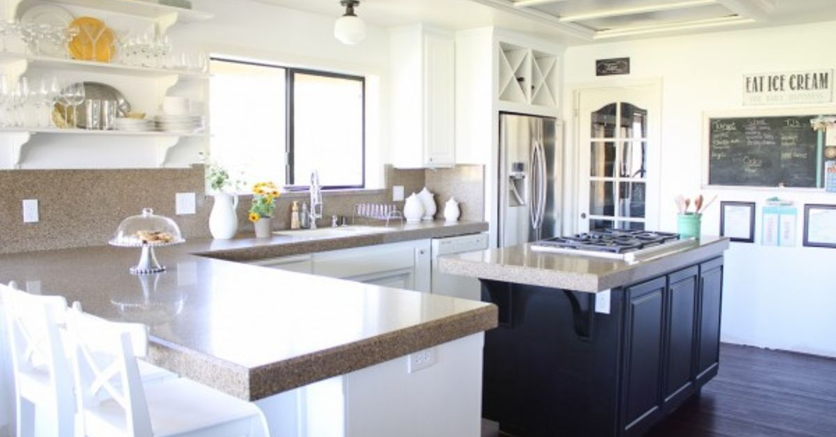 white kitchen cabinet makeover black and white kitchen makeover reveal hometalk 28639