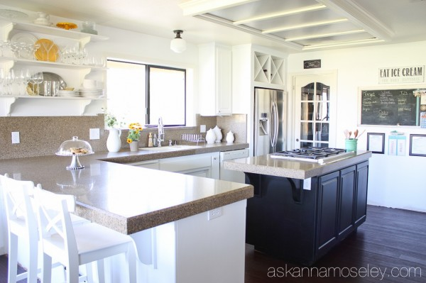 Black And White Kitchen Makeover Reveal Diy Home Improvement Cabinets