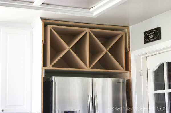 black and white kitchen makeover reveal, diy, home improvement, kitchen  cabinets, kitchen. The makings of the decorative wine rack!