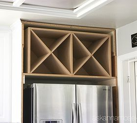 black and white kitchen makeover reveal diy home improvement kitchen cabinets kitchen the makings of the decorative wine rack