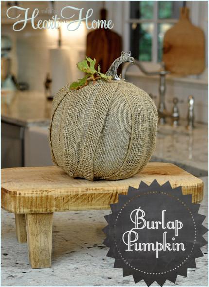 crafts fall burlap pumpkin decor, crafts, seasonal holiday decor