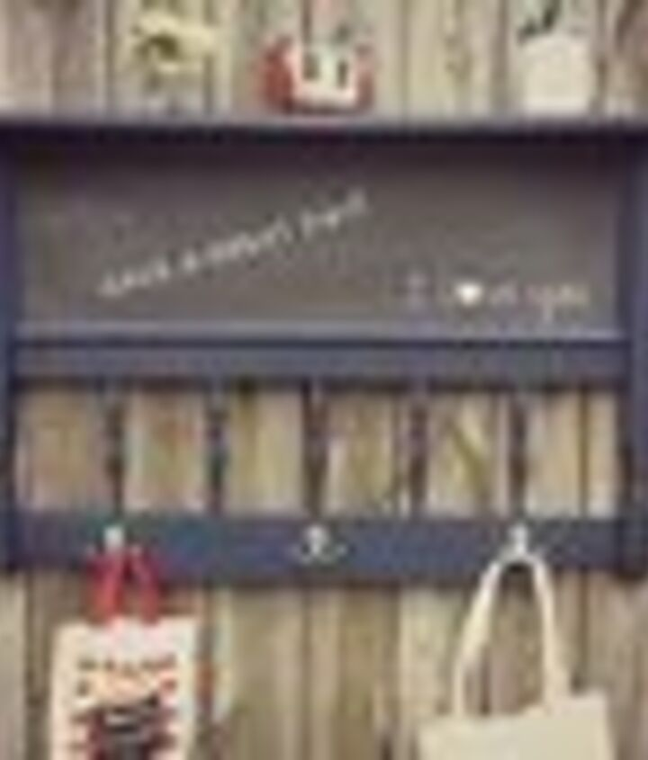 repurposed headboard chalkboard coat rack shelf, chalkboard paint, crafts, organizing