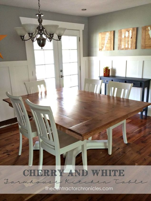 Wood farmhouse table revamp hometalk woodworking farmhouse table revamp diy painted furniture woodworking projects workwithnaturefo