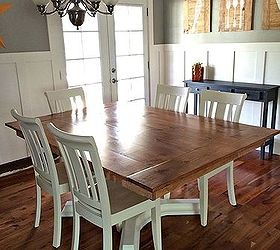 Woodworking Farmhouse Table Revamp, Diy, Painted Furniture, Woodworking  Projects