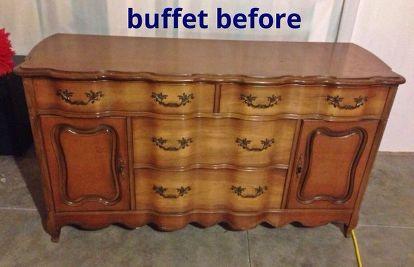 Bathroom Ideas Vanity Buffet Repurpose Granite Diy Painted Furniture Repurposing