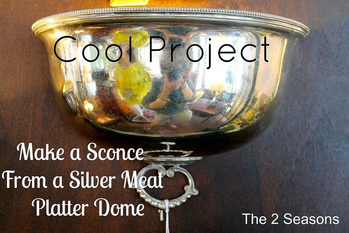 diy silver wall sconces platter lids, repurposing upcycling, wall decor