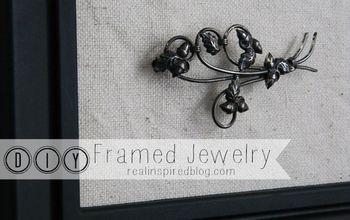 diy framed jewelry, crafts, home decor, wall decor