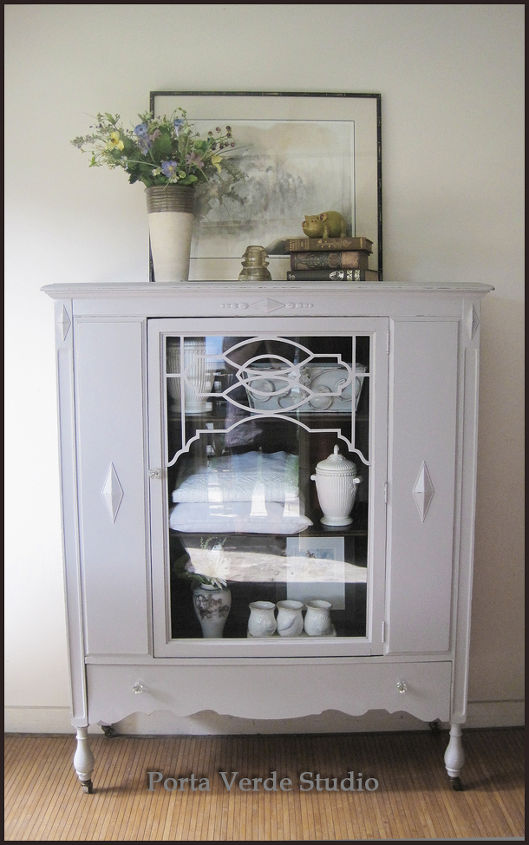 Deciding On Distressing Painted China Cabinet Hometalk