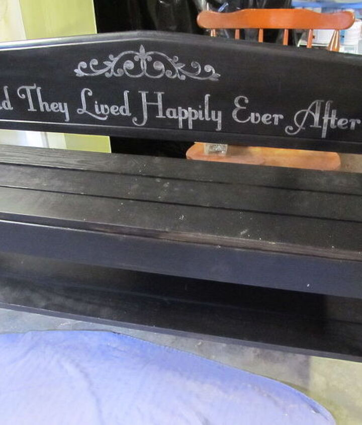double chair bench, outdoor furniture, painted furniture, repurposing upcycling